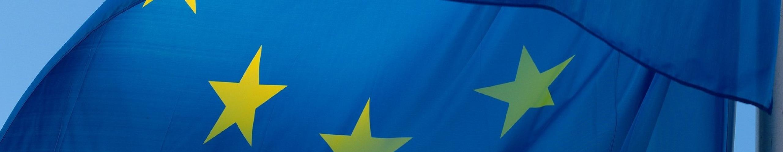 EU flag panel background