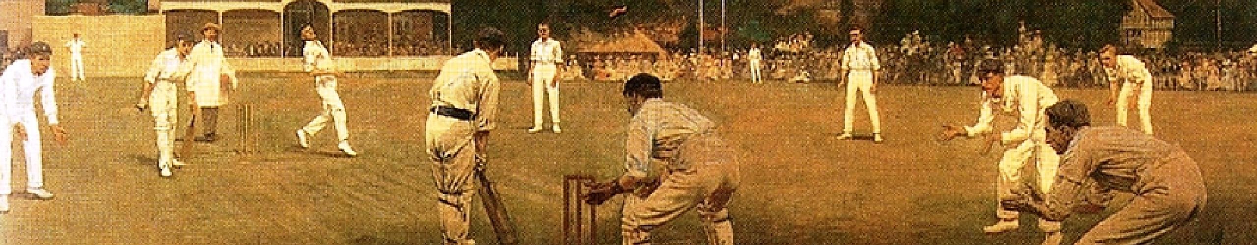 Cricket match panel background