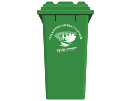 Uttlesford green recycling bin