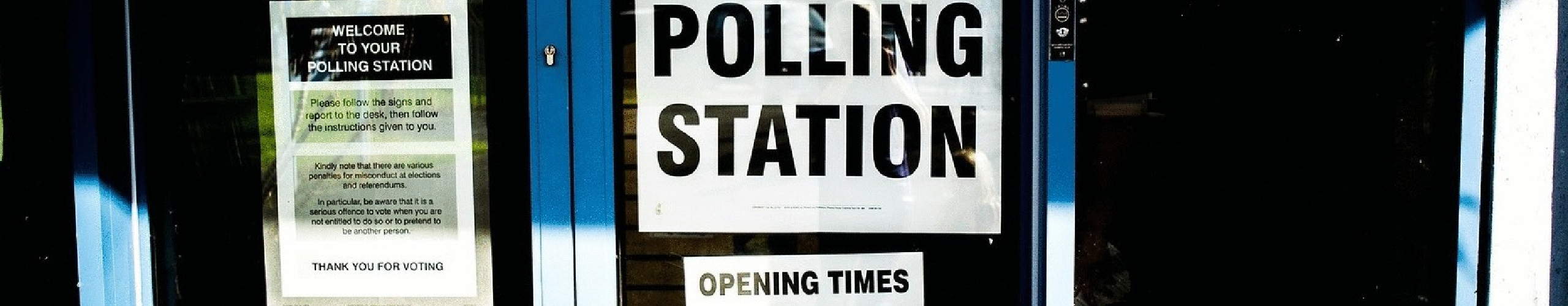 Polling Station window banner